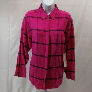 Diane Von Furstenberg NWT Flannel Shirt Plaid But